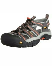 KEEN Newport H2 Sandal Size 9 UK 6.5 EU 39.5 Gray Coral Pink Hiking Closed Toe - $43.49