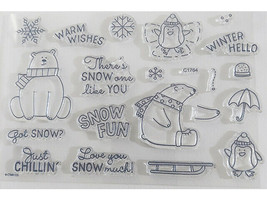 Close to My Heart Got Snow? Clear Acrylic Stamp Set #C1764 image 2