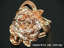 Luxury Rose Charm Ring !!! Size 8 US (18) - $34.10