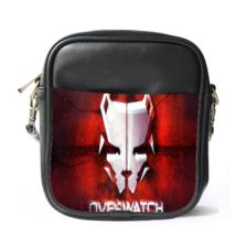 Sling Bag Leather Shoulder Bag Overwatch Mask Logo Widow Maker Shooter Video Gam - $14.00