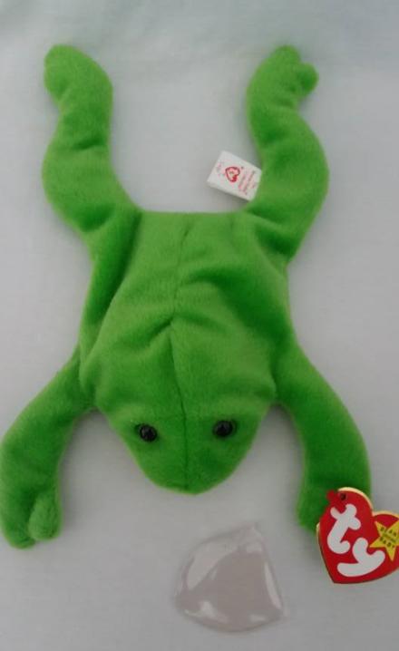 7b56ee0edc2 Img 4605553301 1499712688. Img 4605553301 1499712688. Previous. TY Beanie  Babies Legs Frog PVC PELLETS Style   RARE ERRORS Retired