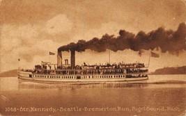 Steamer Kennedy Seattle Bremerton Run Puget Sound Washington 1912 postcard - $6.93