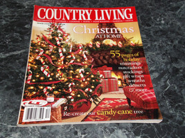 Country Living December 2001 Magazine Christmas at Home - $2.99