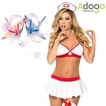 Sexy Lingerie Nurse Costume Outfit Set Nurse Cosplay Free Size image 7