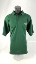 Men's New York Jets Polo Golf Shirt Size M Medium Green NFL - $16.82