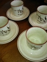 (4) Nikko China Leawood Pattern Cups and Saucers - $23.75