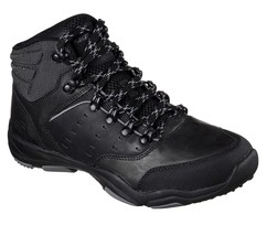 Men's SKECHERS Classic Larson - Sento Hiking Boot, 65160 /BLK Sizes 8.5-... - £55.27 GBP