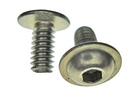 "1/4-20 x 1/2"" Ford Lincoln fender under hood flange button bolts stainless - $7.29"