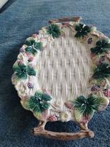 "Decorative Floral Ceramic Serving Platter 17"" x 11"" - €67,81 EUR"