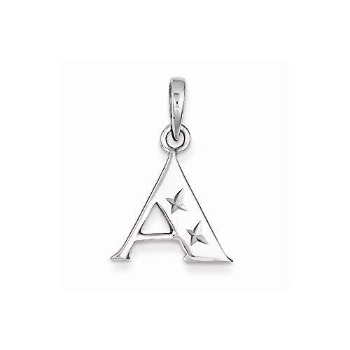 Primary image for Sterling Silver Polished Dia-Cut Initial A Pendant