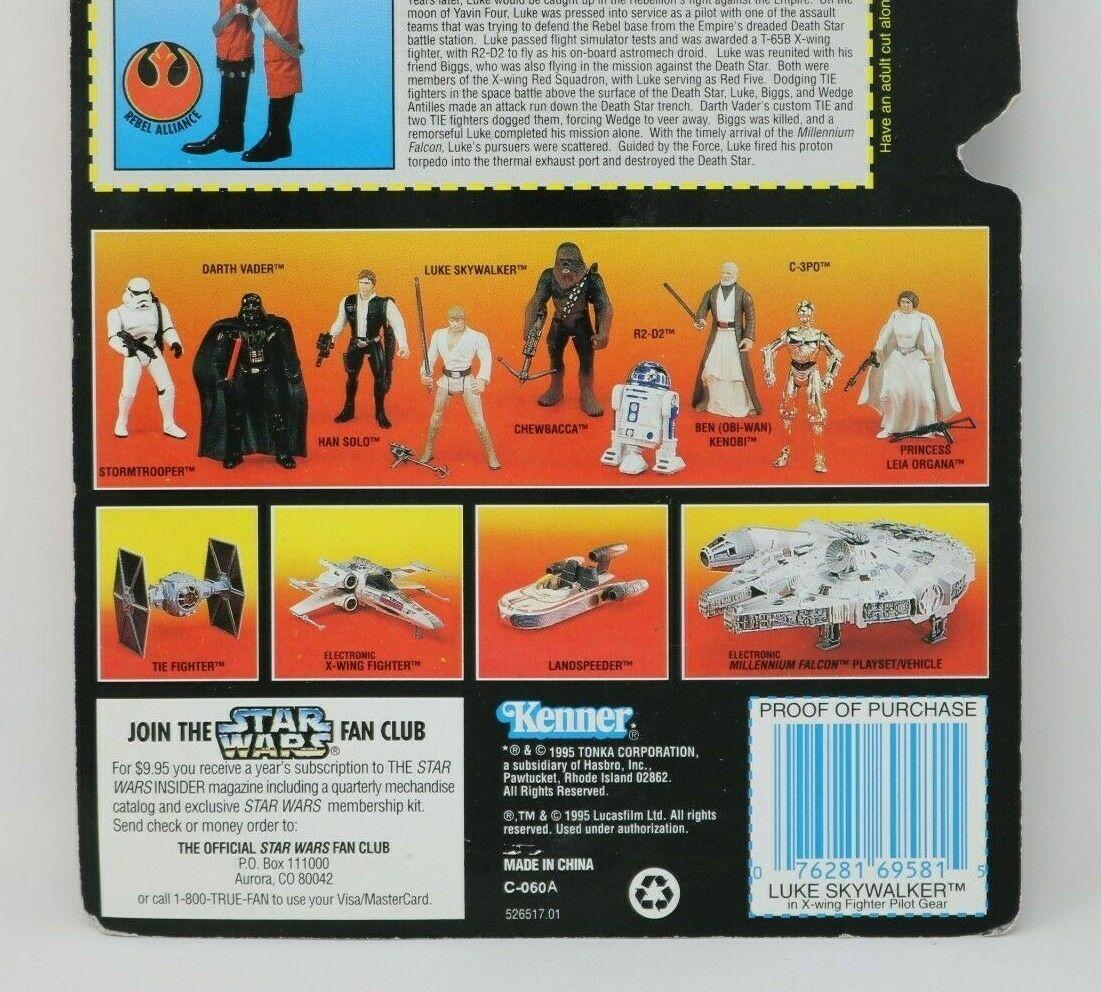 Kenner Star Wars Luke Skywalker In X-Wing Fighter Pilot Gear Action Figure MOC