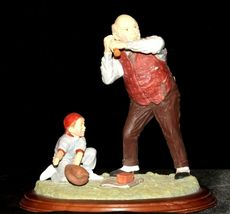 """""""Low and Outside """" by Norman Rockwell Figurine AA19-1665 Vintage image 3"""