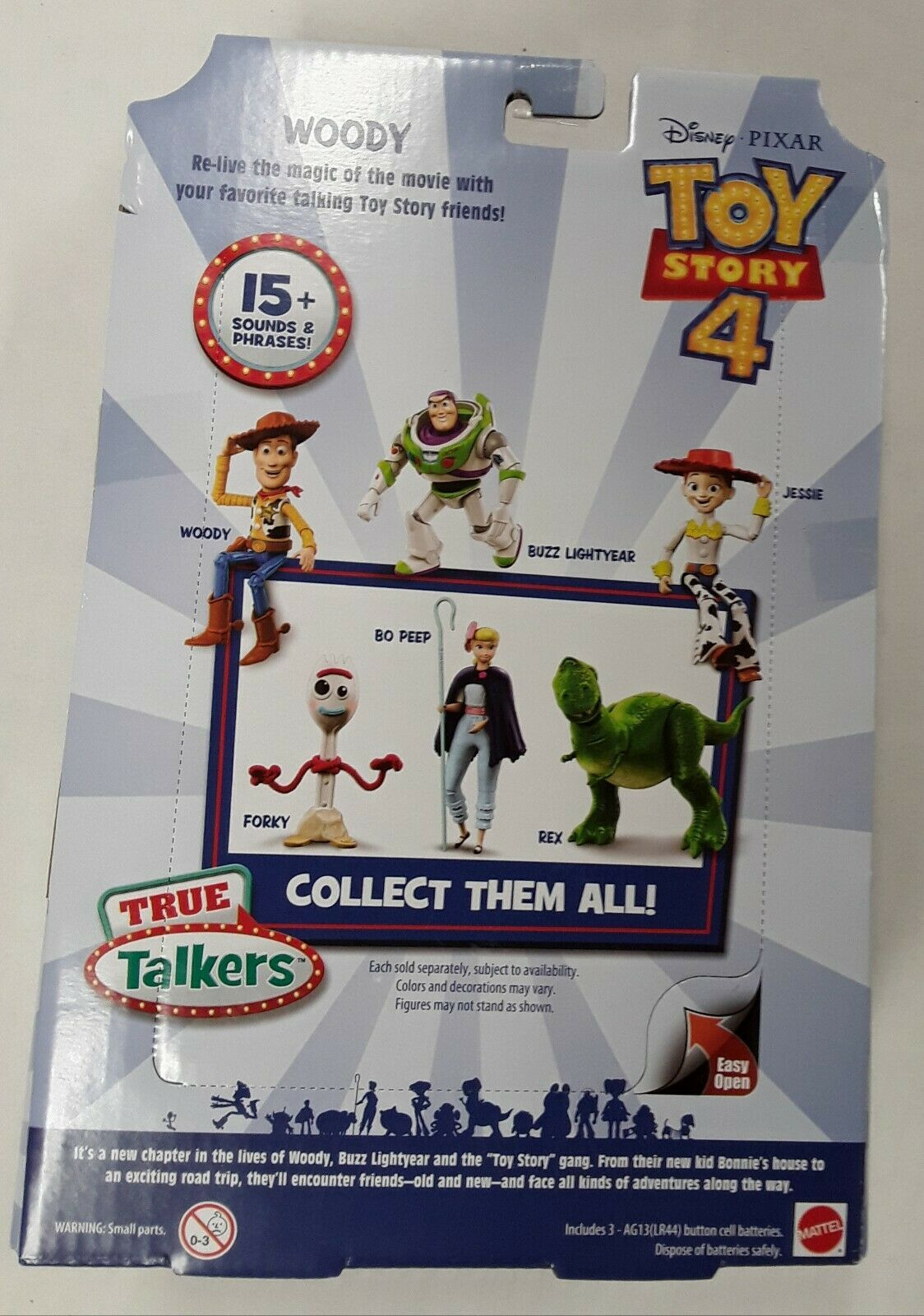"Disney Pixar Toy Story 4 True Talkers Talking Woody Figure 9.2"" BRAND NEW image 6"