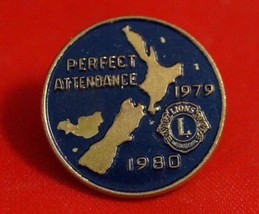 Vintage Lions Club 1979-80 Perfect Attendance Pin - $9.89