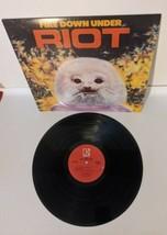Riot Fire Down Under LP 33 1/3 Record Album Elektra 5E-546 Guy Speranza - $28.04