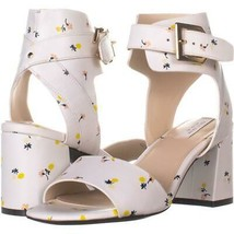 Cole Haan Avani Mid Heeled Buckle Sandals 971, White Floral, 6 US - $44.15