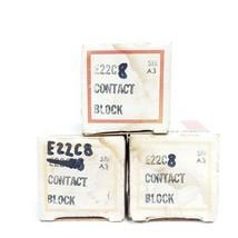 LOT OF 3 NIB EATON CUTLER-HAMMER E22C8 CONTACT BLOCKS SER. A3