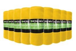 24 Pack Wholesale Soft Fleece Blanket or Throw Blanket - 50 x 60 Inch Ye... - ₹6,879.62 INR
