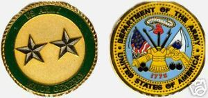 U.S. ARMY TWO STAR MAJOR GENERAL CHALLENGE COIN