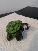Unique Colorful Turtle Brooch Small Pin Turtle w/ Enamel Shell  image 1