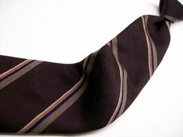 Vtg  ROBERT TALBOTT Brown STRIPES Wool/SILK 100 Necktie  6-330 - $19.99