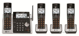 AT&T CL83213 4 Big Button Cordless Phones Answering Machine & Talking Caller ID - $128.85