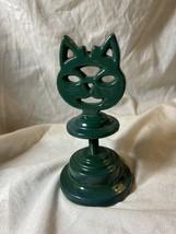 Vintage Cast Metal Cat Head on Stand Sharpener/Stripper OOAK? (a) - $21.77