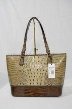 NWT Brahmin Medium Asher Leather Tote/Shoulder Bag Barley Bronte - Beige Brown image 3