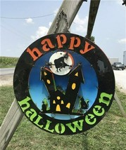 Happy Halloween Sign Wall Hanging, Haunted House Witch Bats, Halloween D... - $99.00