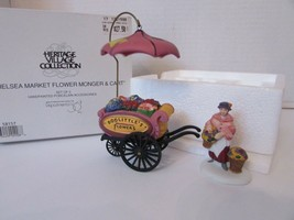 DEPT 56 58157 CHELSEA MARKET FLOWER MONGER & CART ACCESSORY 2 PC HERITAG... - $16.61