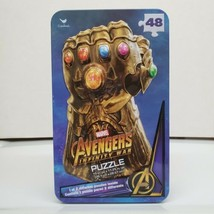 "Cardinal Marvel Avenger Infinity War 48 Piece Jigsaw Puzzle w/Tin 15""X11... - $9.99"
