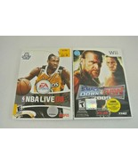 NBA Live 08 Smack Down VS Raw 2009 Lot of 2 Nintendo Wii EX - $14.25