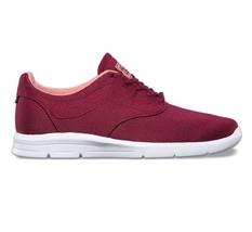 36a07b5559 VANS ISO 1.5 (Mesh) Beet Red White UltraCush Skate Shoes WOMEN  39