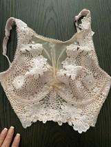 32C Victoria's Secret Dream Angels Floral Applique Long Bra NWT Sexy Style - $17.77