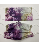 10 pretty purple and gold smoke cloud disposable face mask - $11.00