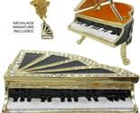 Piano Jeweled Trinket Box with Austrian Crystals