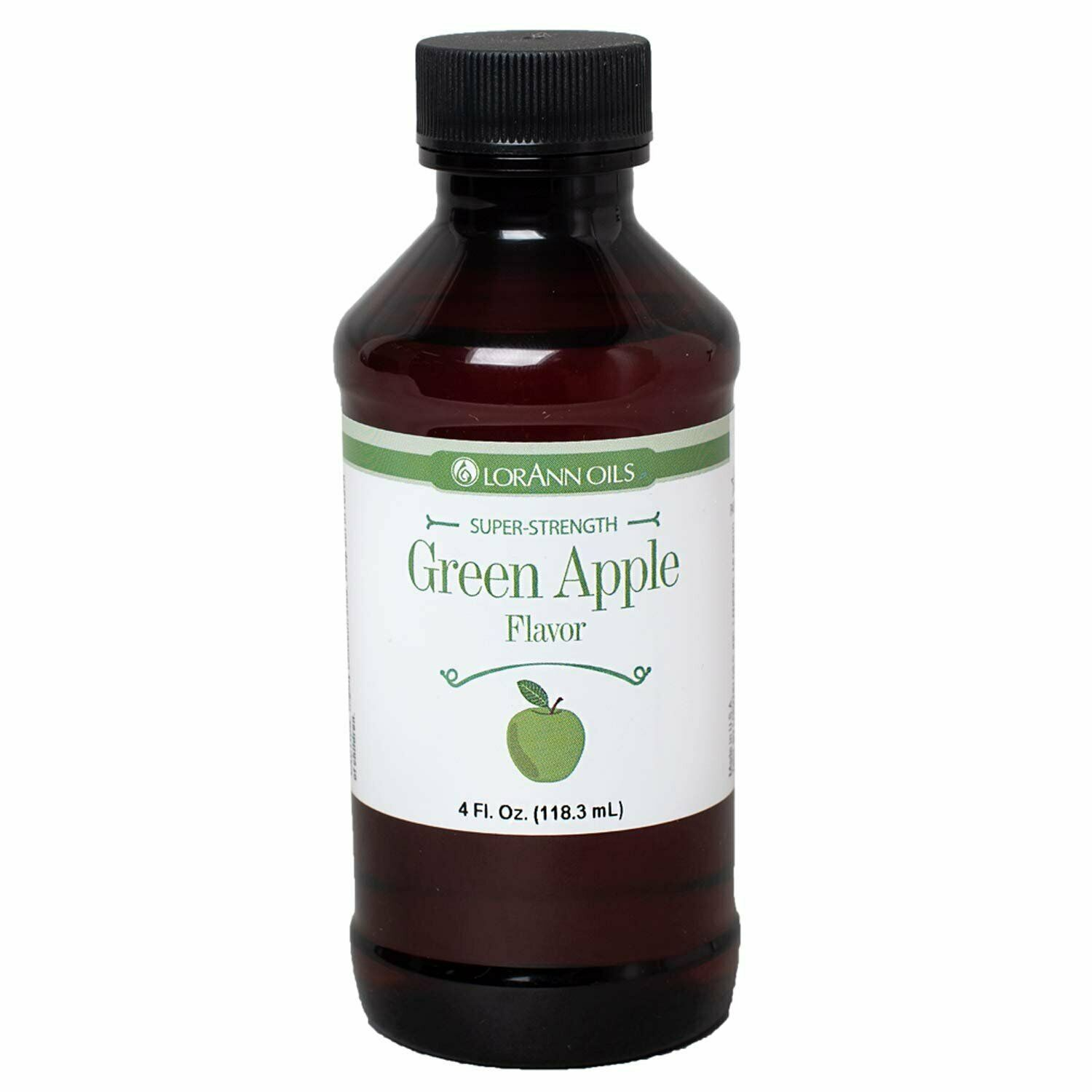 Primary image for LorAnn Super Strength Green Apple Flavor, 4 ounce bottle