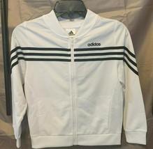 Adidas Girls Black and White Zip-Up Jacket With Logo Size 10-12/14/16 - $28.00