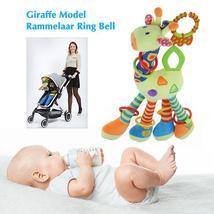 Plush Infant Baby Development Soft Giraffe Model Rattle Ring Bell Animal... - $22.00