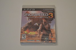 Uncharted 3 Drake's Deception PS3 Naughty Dog 3D Compatible Sony Multipl... - $14.84