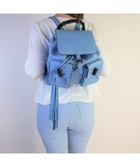 Gucci Calfskin Medium Bamboo Backpack Blue Jeans - $999.00