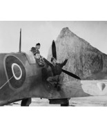 US Army Air Force men in a Spitfire observe a plane in flight New 8x10 P... - $7.05