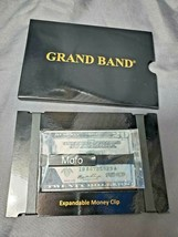 "The Grand Band ""Lux"" Medium Black Stainless Steel Expandable Money Clip ... - $21.78"