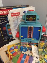 Vintage Playskool ALPHIE THE ELECTRONIC ROBOT in Box Cards Accessories 1978 - $59.99