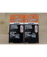 "Lot of 2 NEW LEHIGH 3/32"" Ferrule & Stop Set Aluminum Cable Clamps 7331 - $7.99"