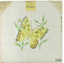 "Vintage 70s Maggi Brandman Hand Painted Needlepoint ""B100 Butterfly, Lar... - $28.35"