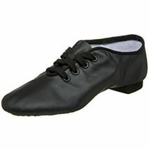 Capezio CG02C Black Lace Split-Sole Jazz Shoe Child Size 2W 2 Wide - $41.89