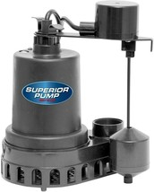 Submersible Sump Pump 1/2 HP Overload Protection Self-Priming Thermoplastic - $104.99
