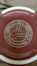 Longaberger Pottery 1 pint crock with coaster lid Paprika - $20.00