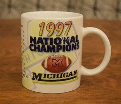 Michigan Wolverines Football National Champions Vintage Coffee Mug Cup 1997 - $9.89